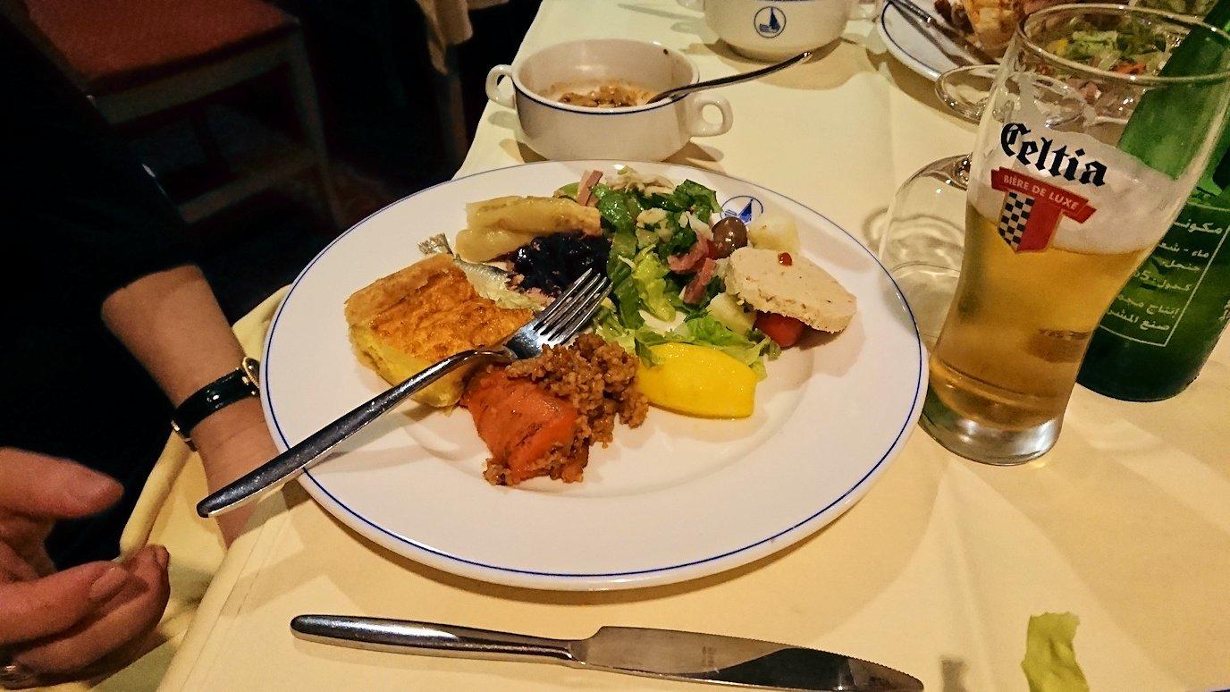 チュニジアのチュニスにあるエルムラディ・アフリカ・ホテルの夕食をいただきます10