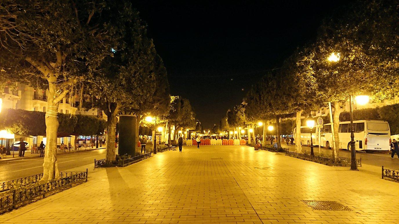 チュニジアのチュニスにあるエルムラディ・アフリカ・ホテルの夕食を食べて、その後夜の街へ出かける7