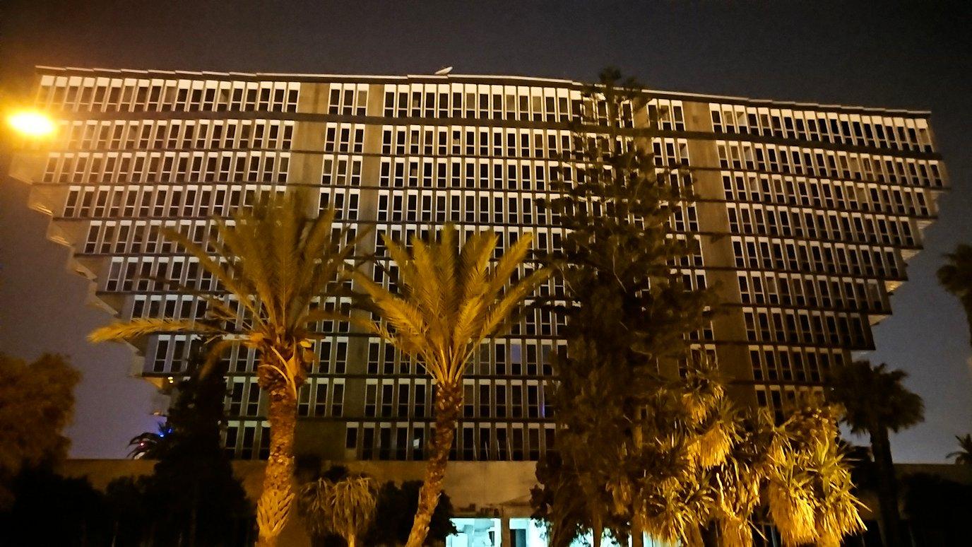 チュニジアのチュニスにあるエルムラディ・アフリカ・ホテルの夕食を食べて、その後夜の街を散策4
