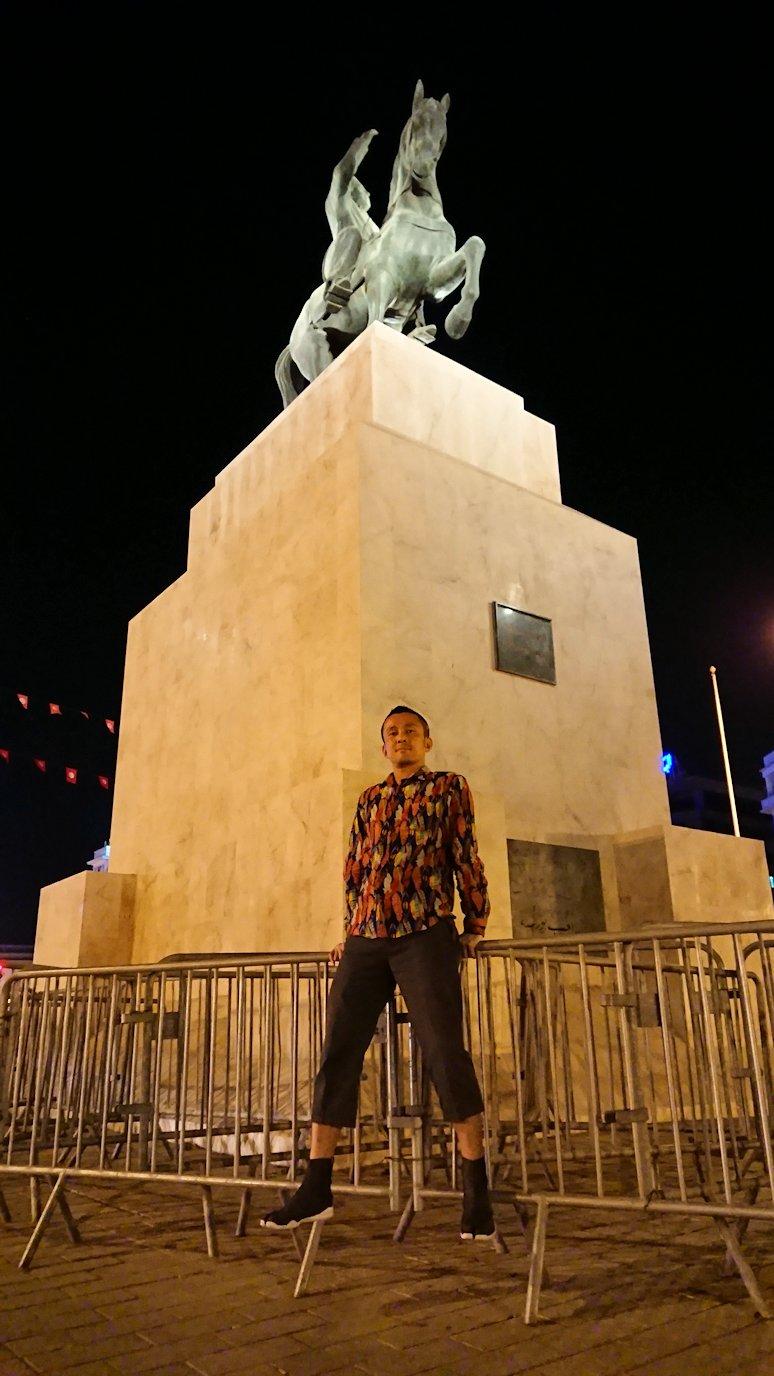 チュニジアのチュニスにあるエルムラディ・アフリカ・ホテルの夕食を食べて、その後夜の街を散策5