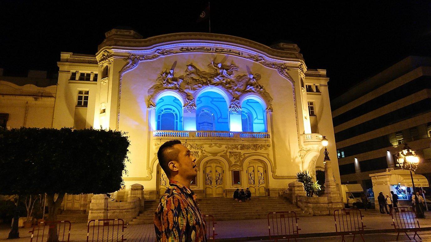 チュニジアのチュニスにあるエルムラディ・アフリカ・ホテルの夕食を食べて、その後夜の街を散策7