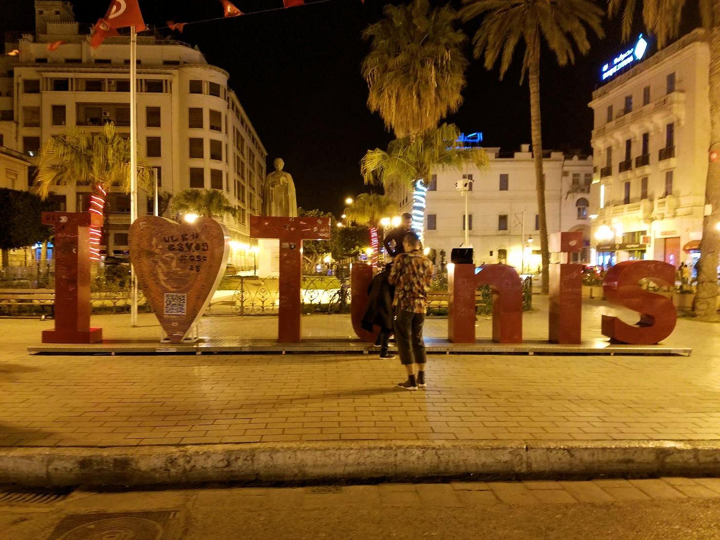 チュニジアのチュニスにあるエルムラディ・アフリカ・ホテルの夕食を食べて、その後夜の街を散策9
