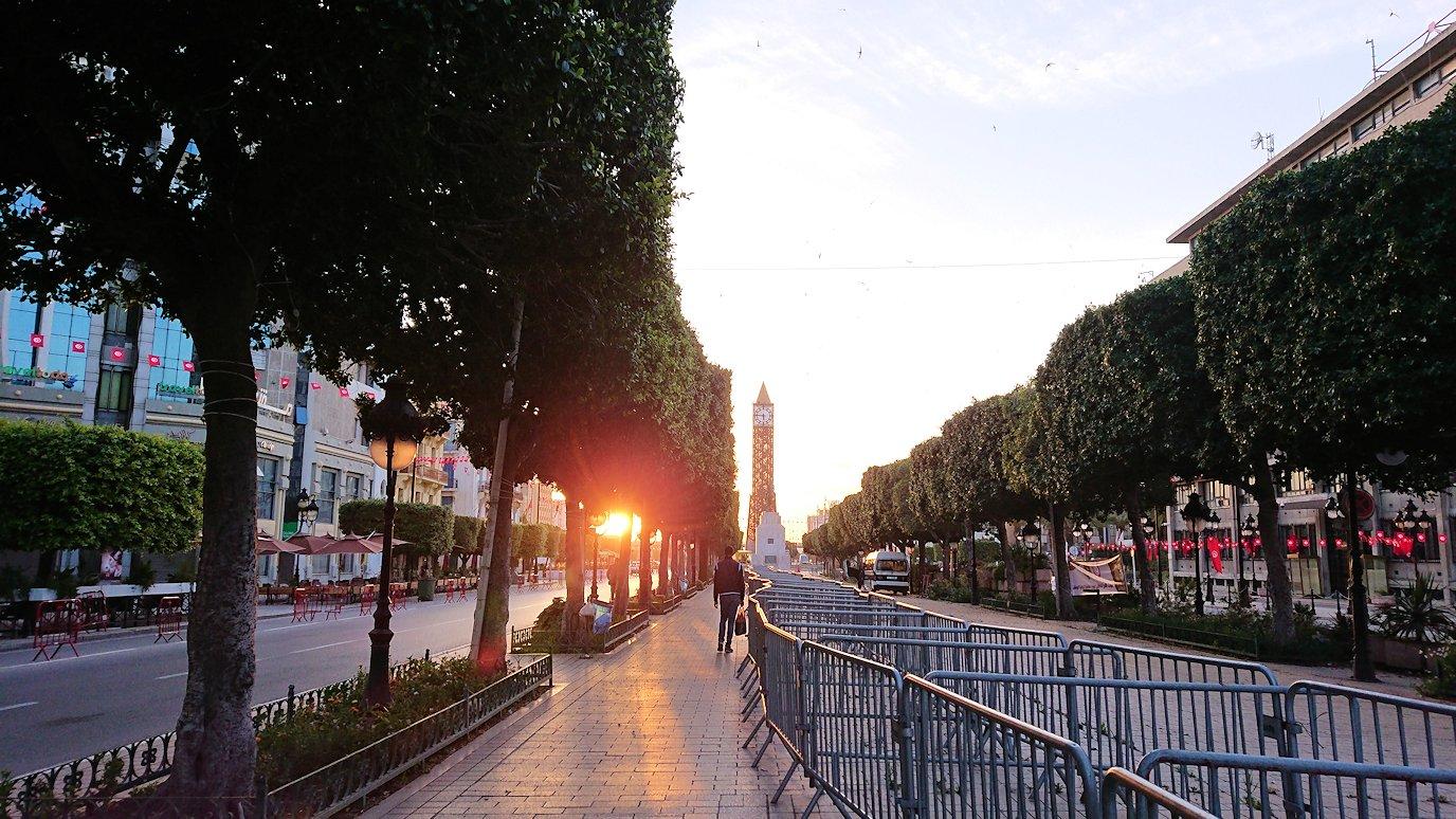 チュニジアのチュニスの朝の街を散策する9