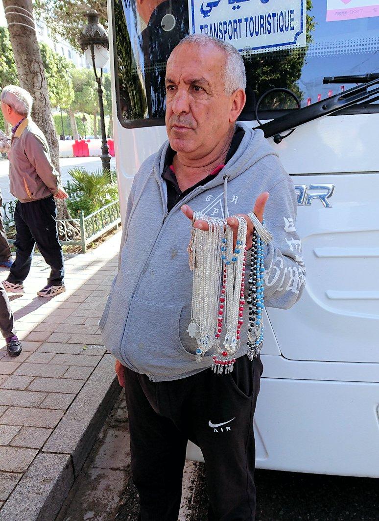 チュニジアのチュニスの朝の街を散策そホテルに戻り朝食を食べる9