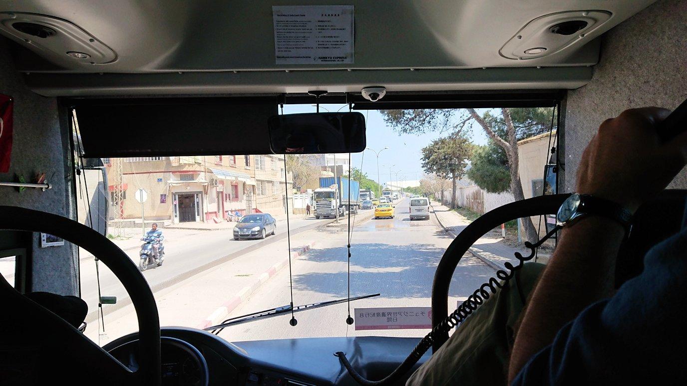 チュニジア:イシュケウル国立公園からビゼルトの街へ移動2