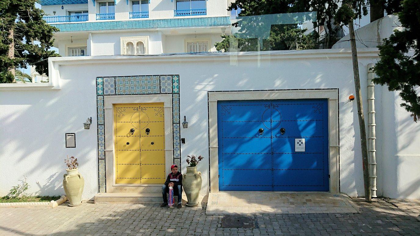 チュニジア:シディ・ブ・サイドの近くに着く2