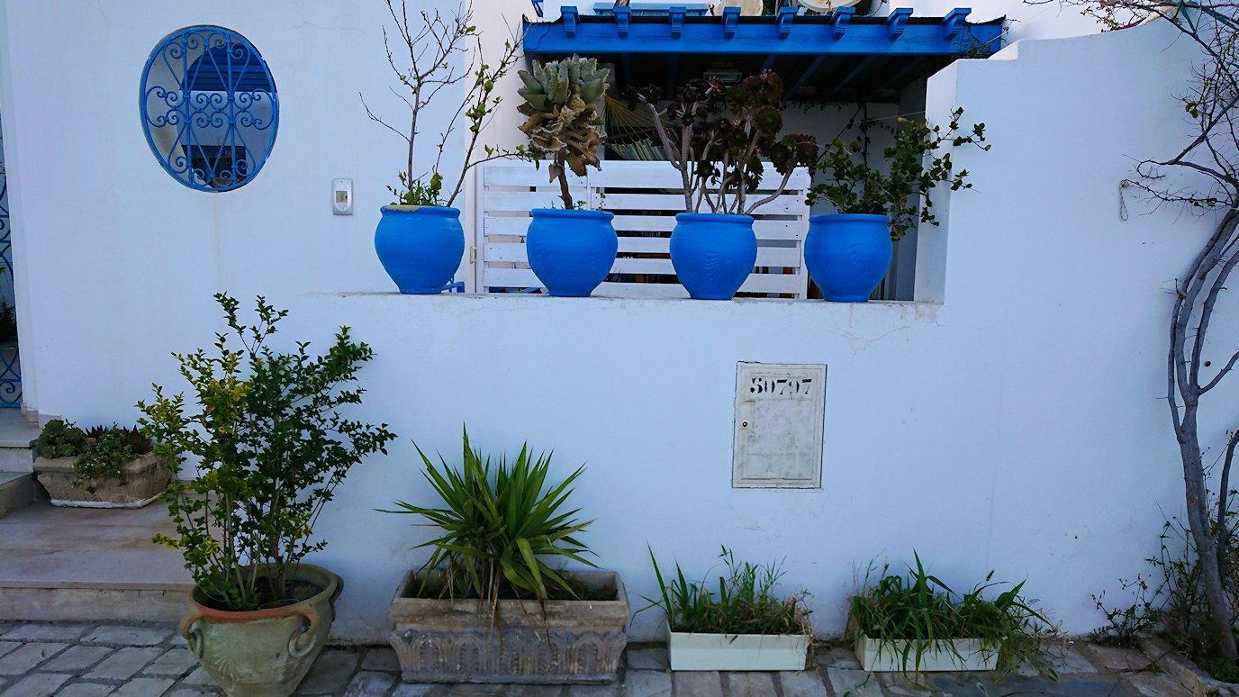 チュニジア:シディ・ブ・サイドで海岸に降りた道を登って行く2
