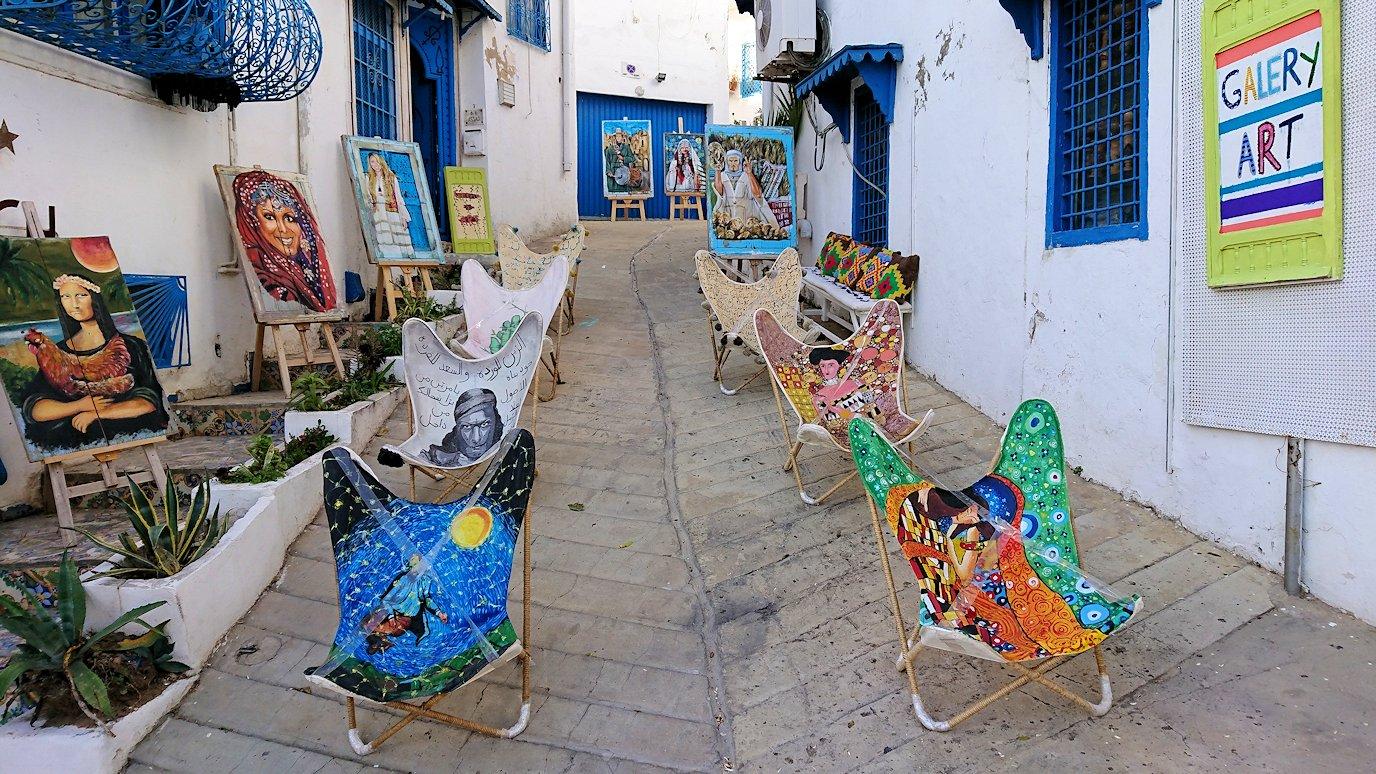 チュニジア:シディ・ブ・サイドで最後まで写真を撮り続ける1