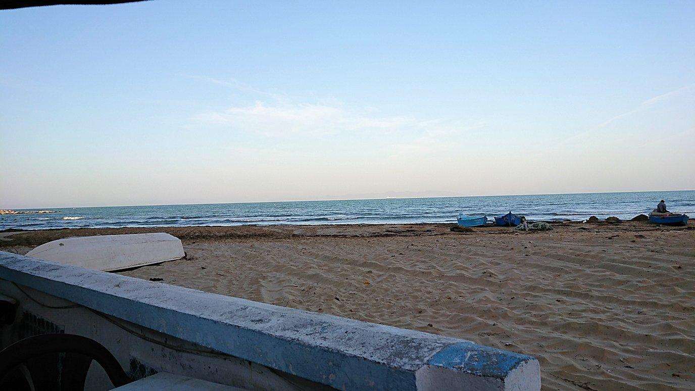 チュニジア:シディ・ブ・サイドから夕食レストランに向かう9