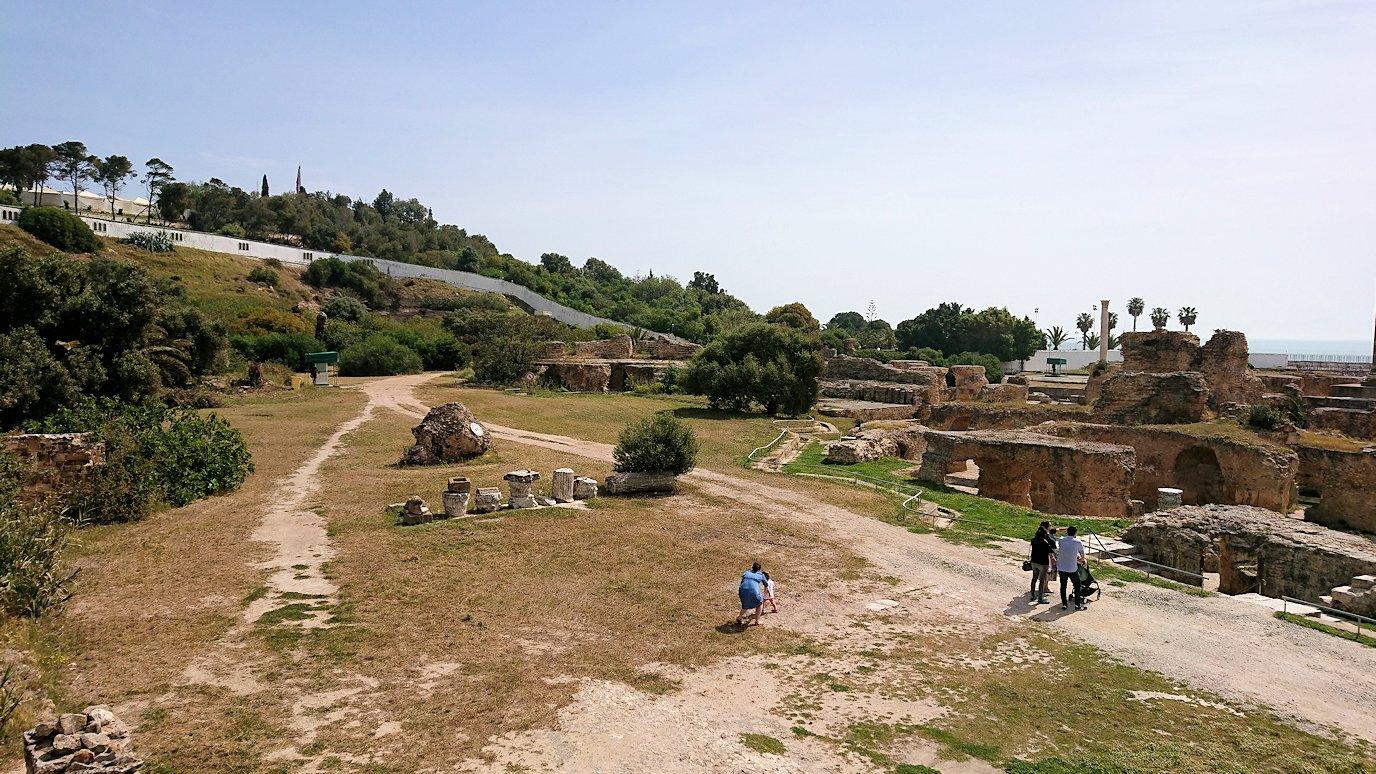 チュニジア:カルタゴ遺跡のアントニヌスの共同浴場へ入ります9