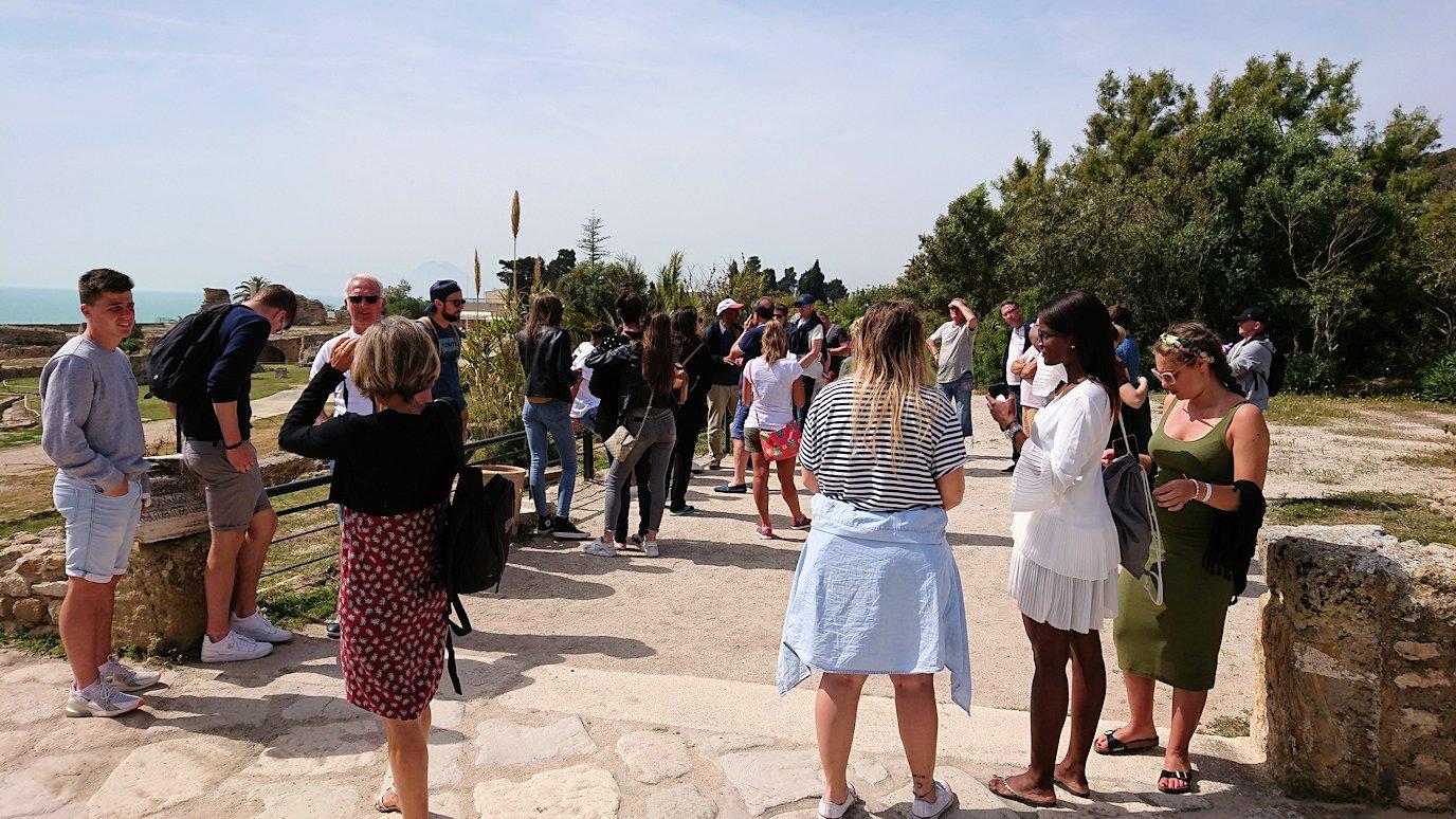 チュニジア:カルタゴ遺跡のアントニヌスの共同浴場を見下ろす2