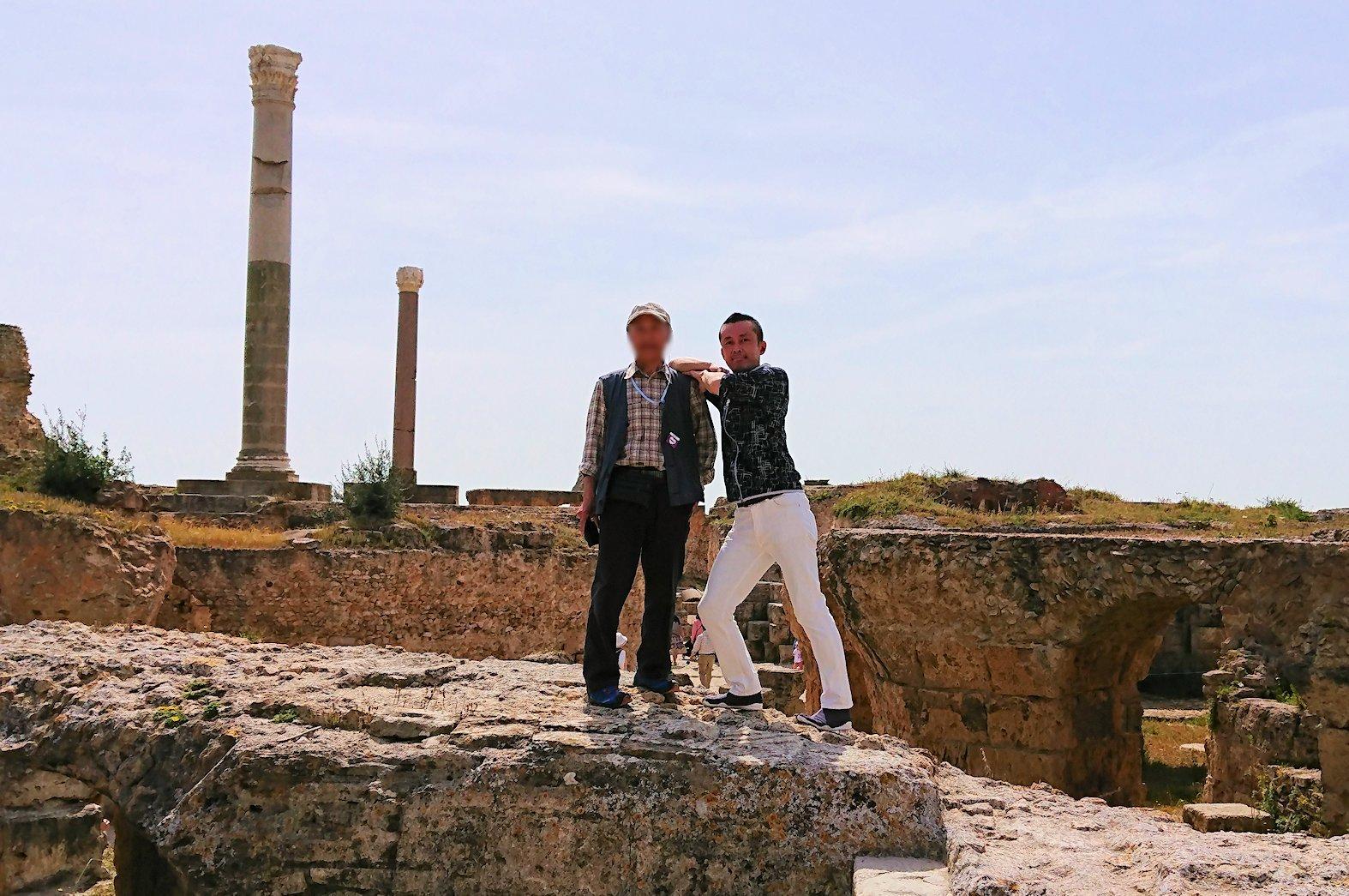 チュニジア:カルタゴ遺跡のアントニヌスの共同浴場を見下ろす9