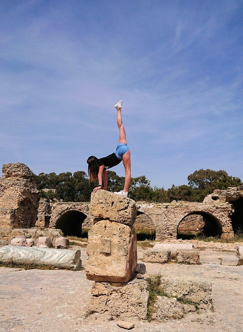 チュニジア:カルタゴ遺跡のアントニヌスの共同浴場内で激写タイム4