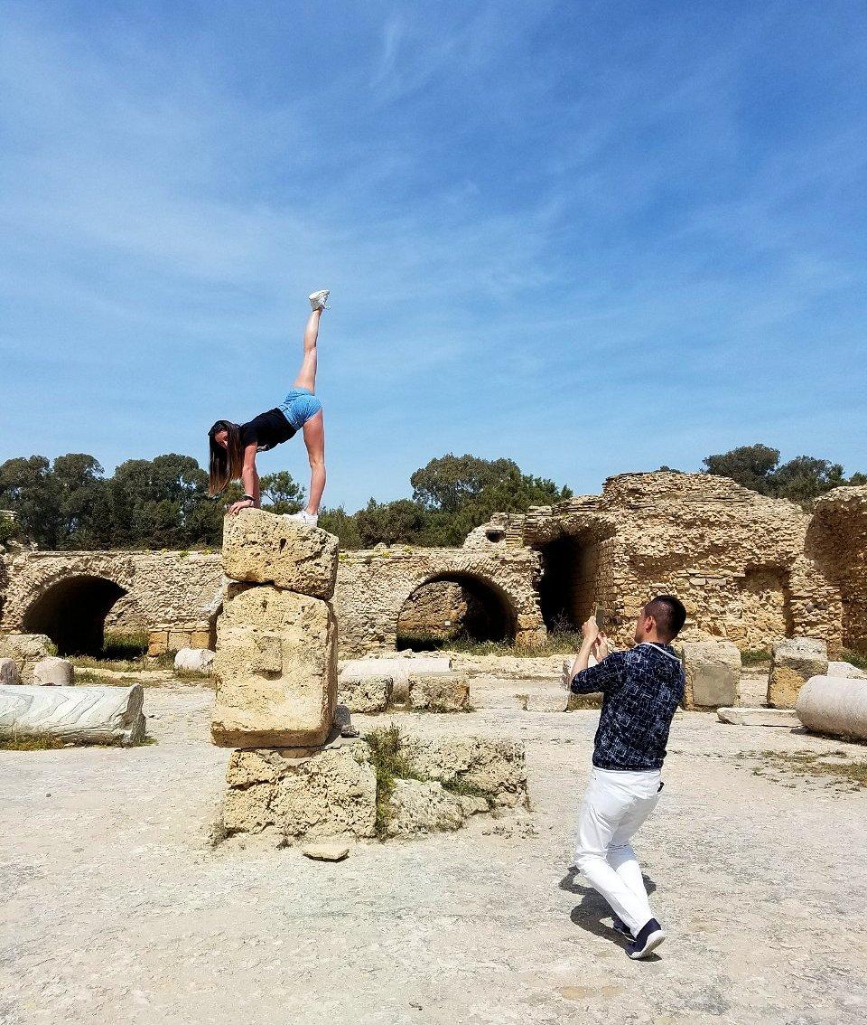 チュニジア:カルタゴ遺跡のアントニヌスの共同浴場内で激写タイム7