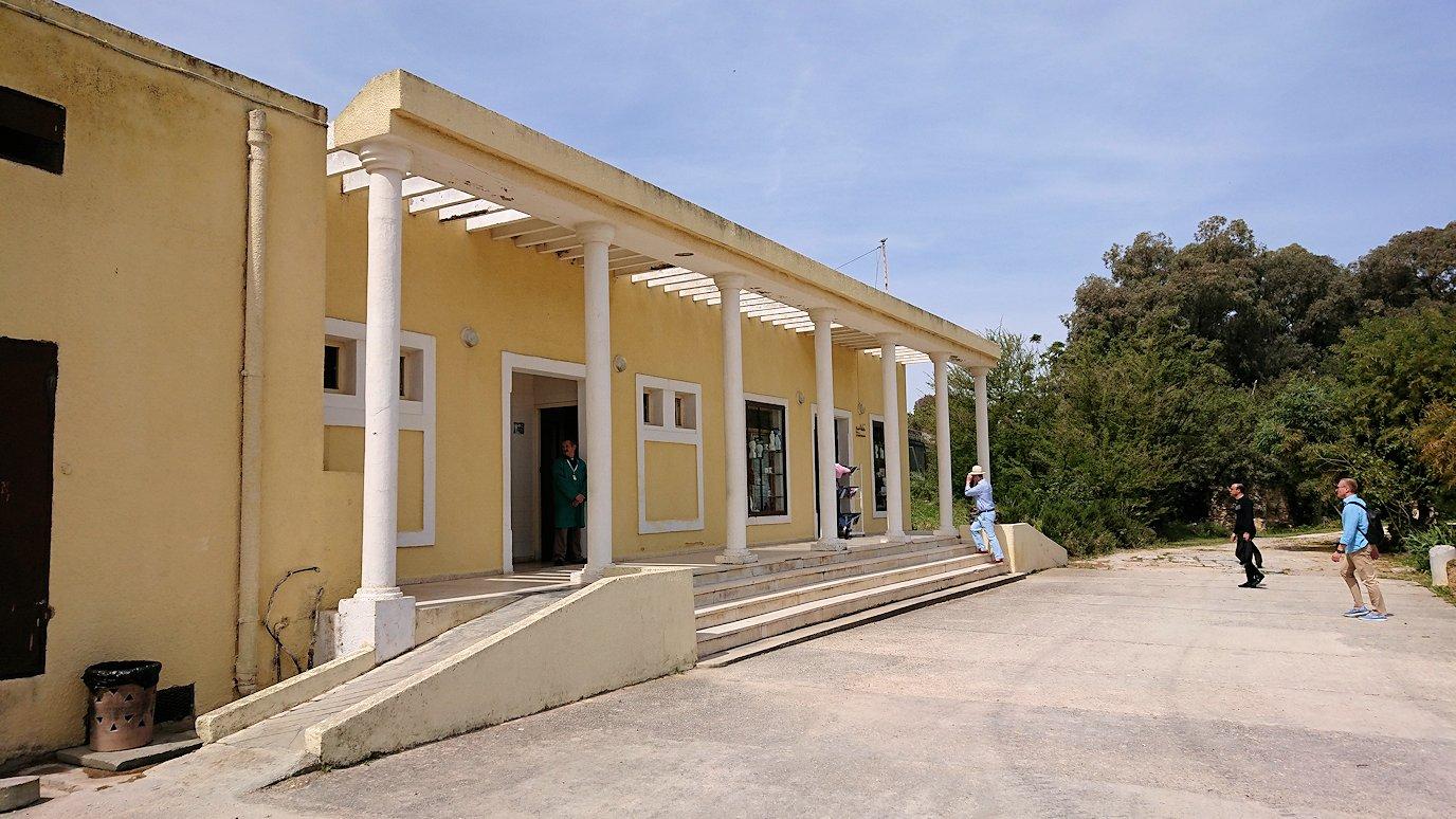 チュニジア:カルタゴ遺跡のアントニヌスの共同浴場内で記念撮影タイムがひたすら続く7