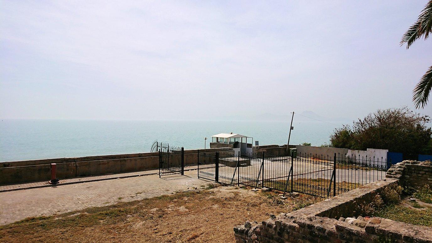 チュニジア:カルタゴ遺跡のアントニヌスの共同浴場内で最後まで粘る3