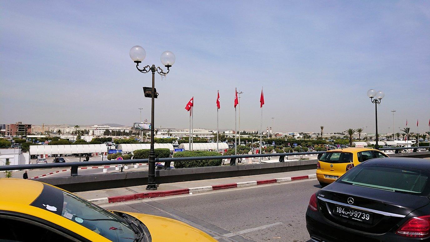 チュニジア:カルタゴ遺跡のアントニヌスの共同浴場内を終了し空港へ向かう7
