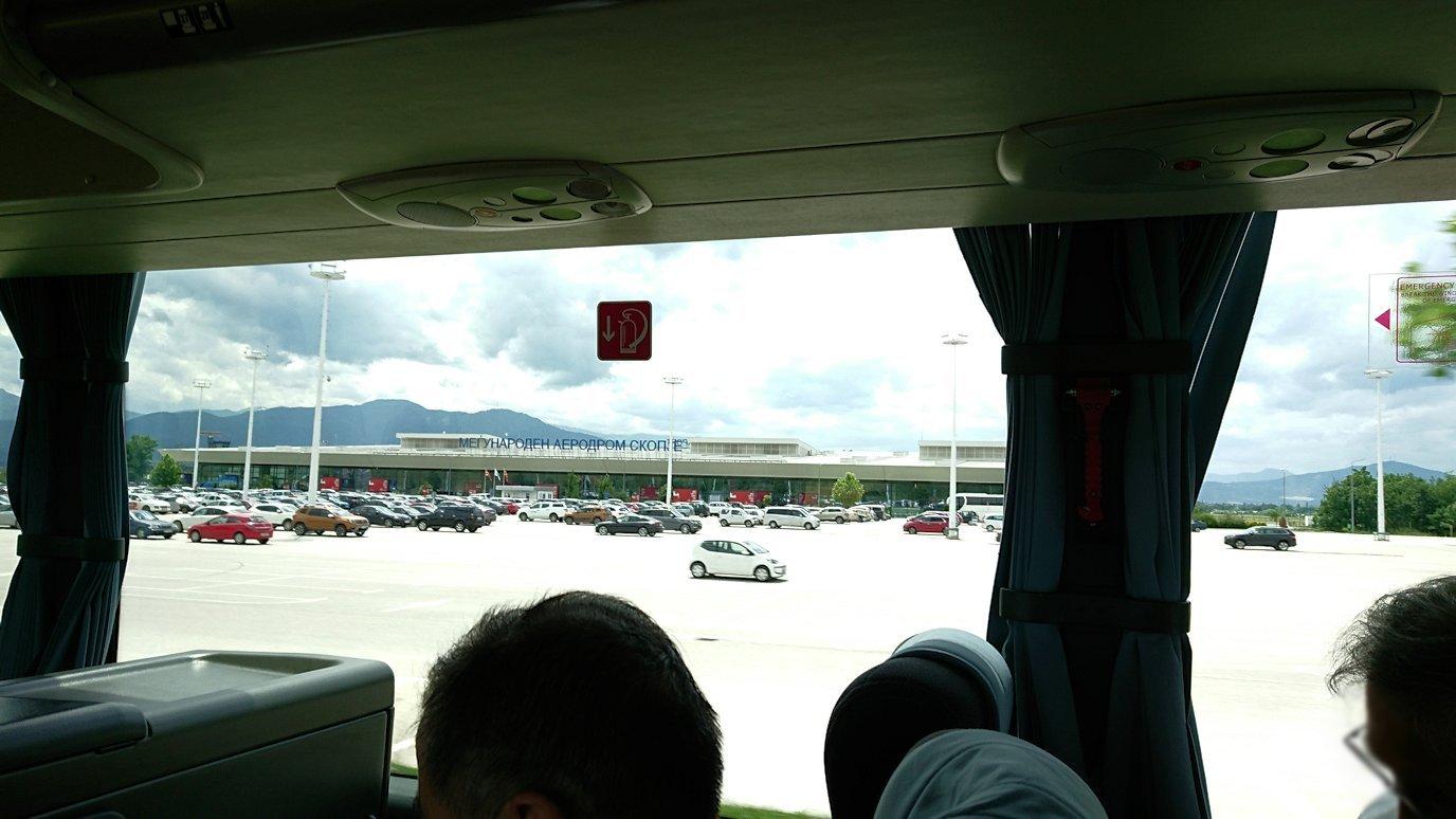 北マケドニアのスコピエ空港から市内へ移動2