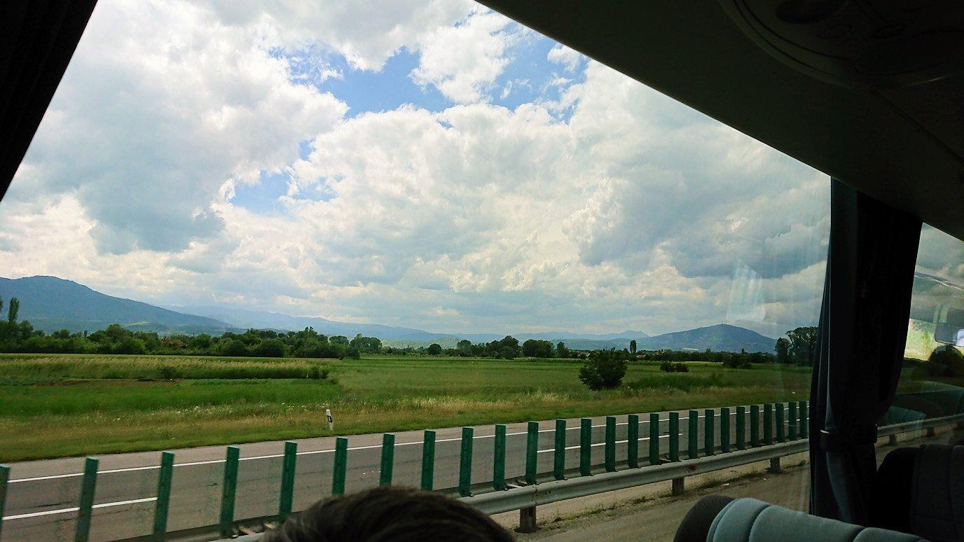 北マケドニアのスコピエ空港から市内へ移動4