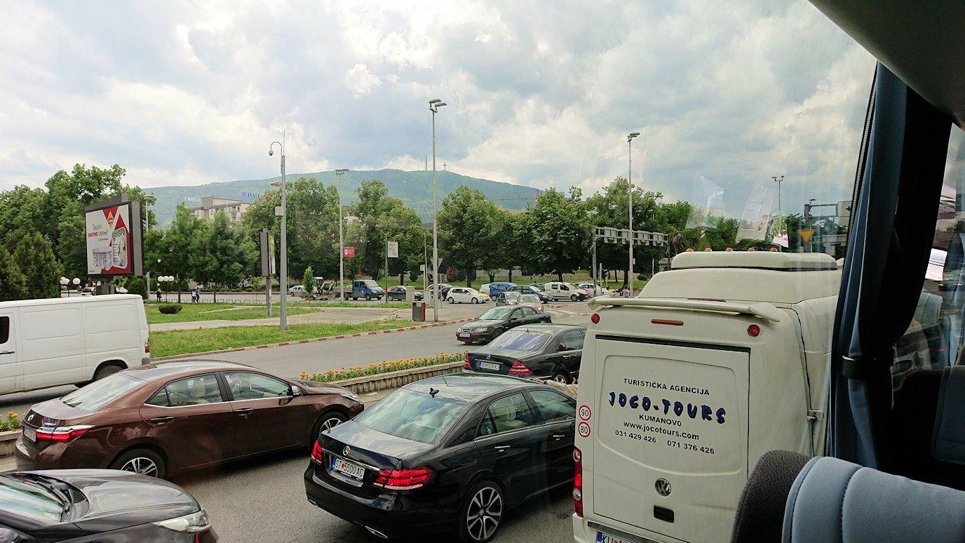 北マケドニアのスコピエ空港から市内へ移動6