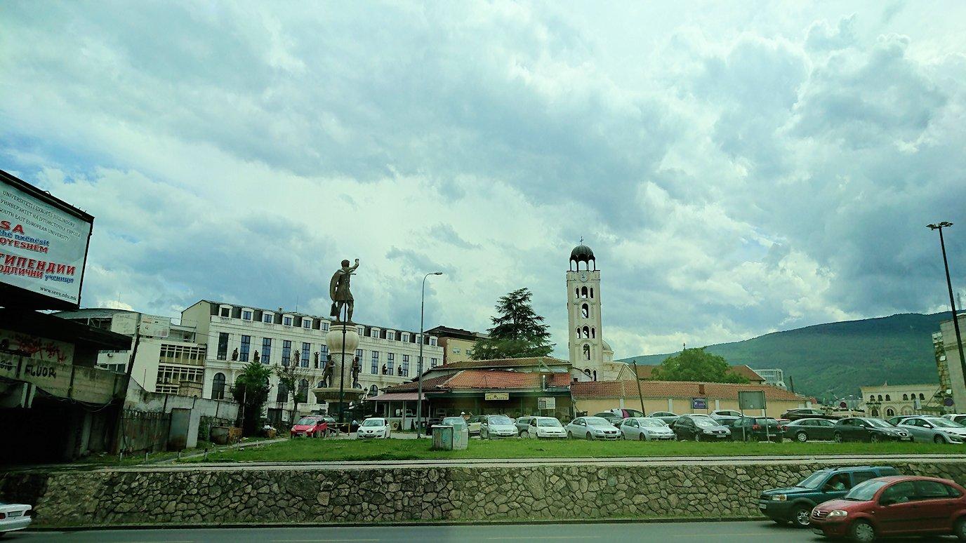 北マケドニアのスコピエ空港から市内へ移動7
