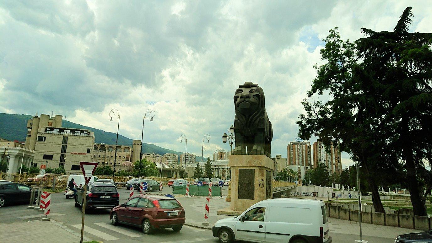 北マケドニアのスコピエ空港から市内へ移動9