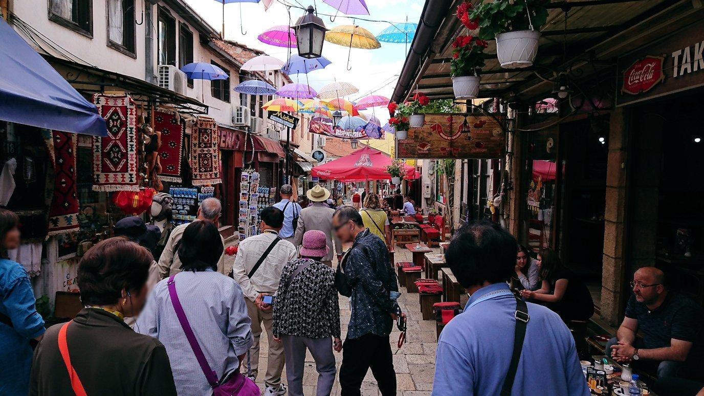北マケドニアのスコピエ市内でオールドバザールを観光して行きます