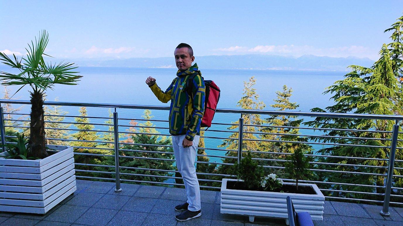 北マケドニアのオフリドのホテルで朝食を食べて出発2