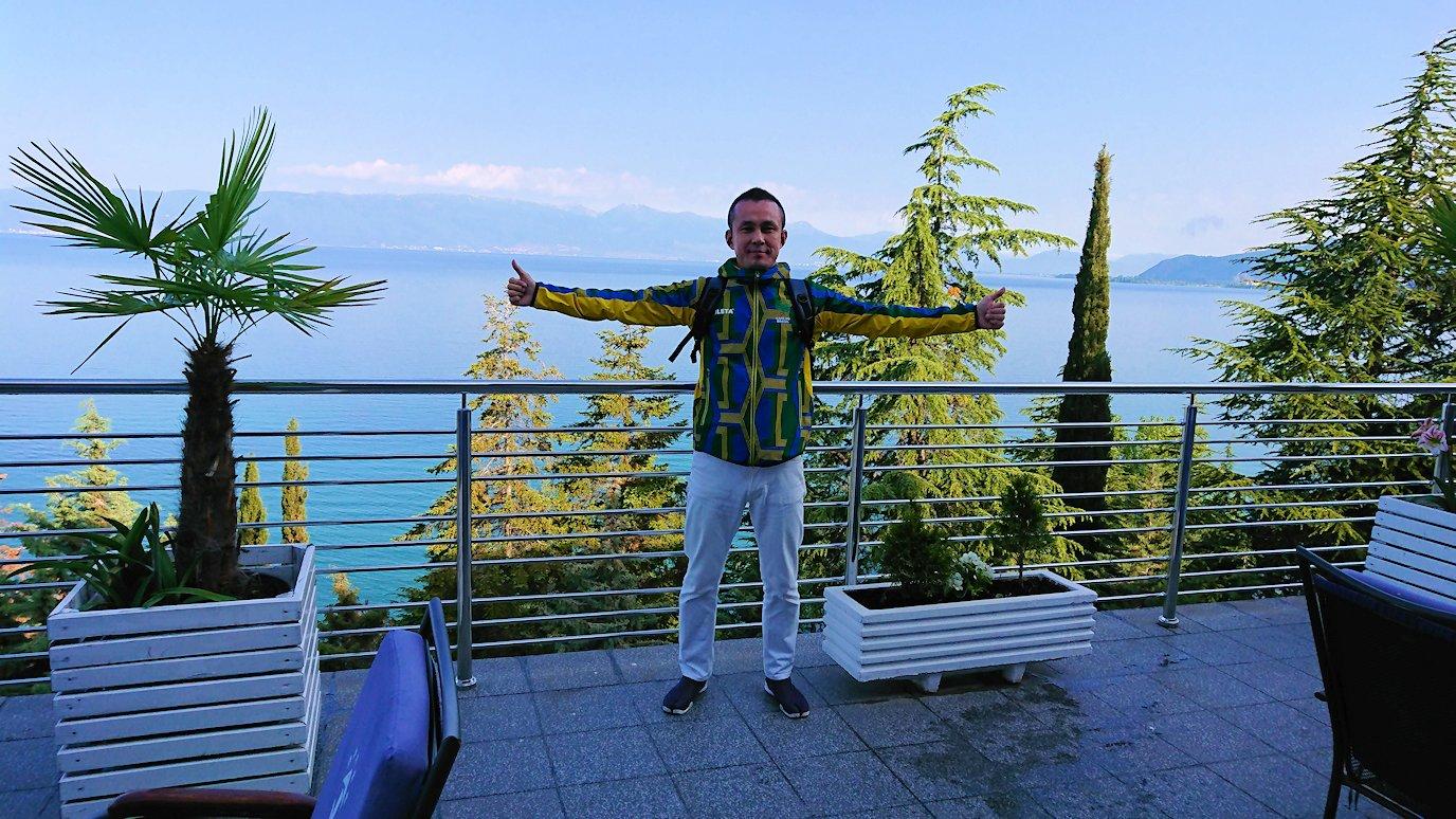 北マケドニアのオフリドのホテルで朝食を食べて出発3