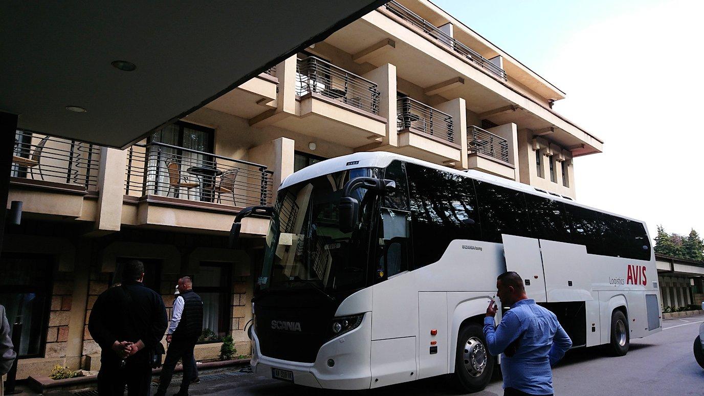 北マケドニアのオフリドのホテルで朝食を食べて出発5