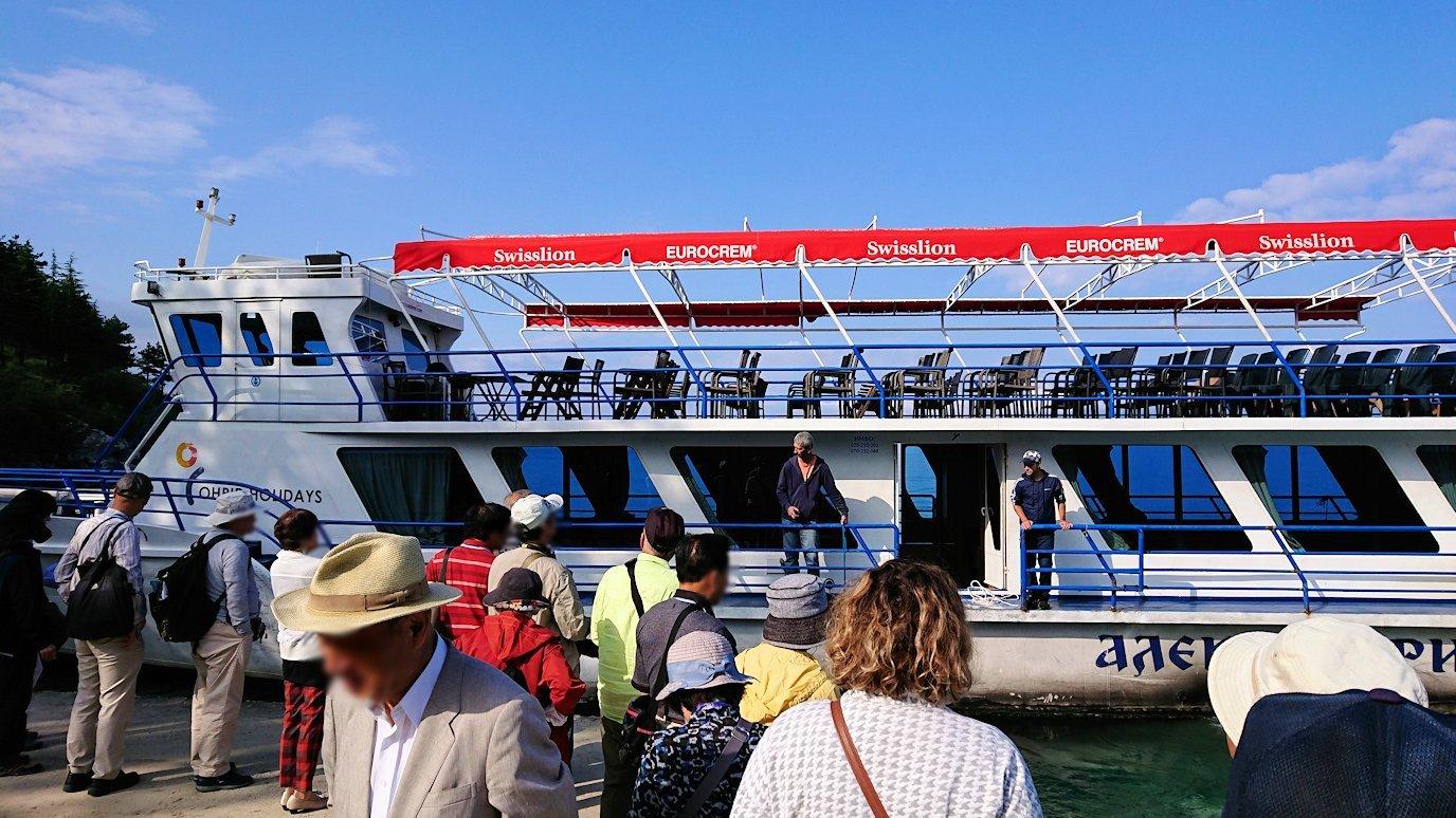 北マケドニアのオフリド湖で船に乗る4