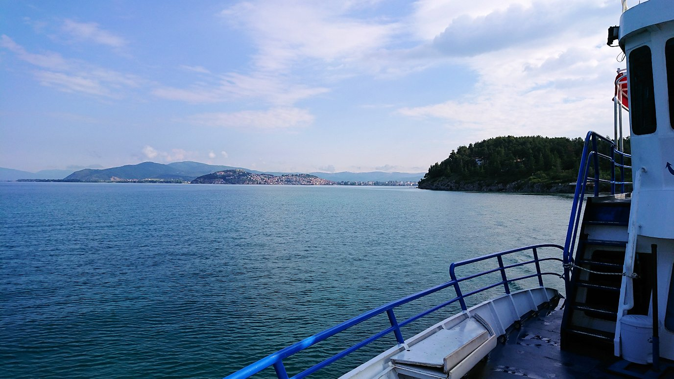北マケドニアのオフリド湖でクルーズ!5