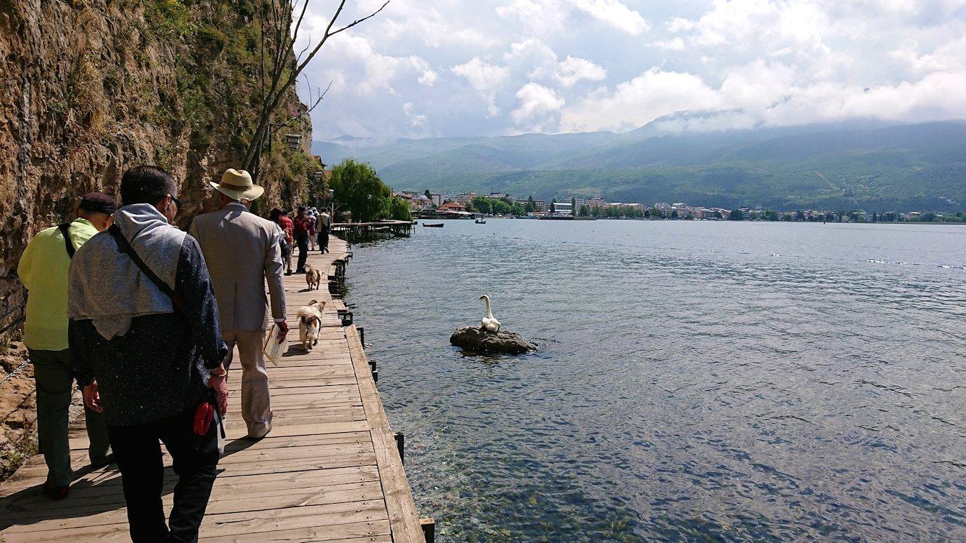 北マケドニアのオフリドで湖岸沿いを散策3
