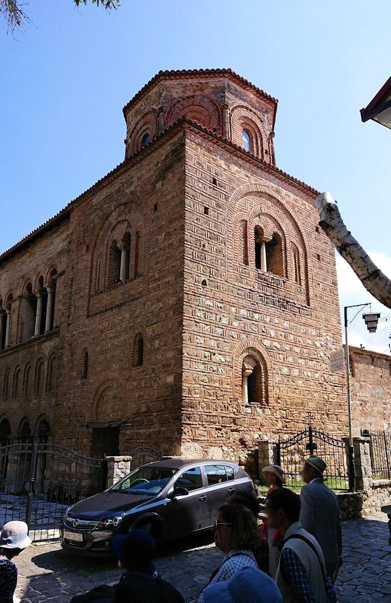 北マケドニアのオフリドで湖岸沿いを歩き聖ソフィア教会に戻る6