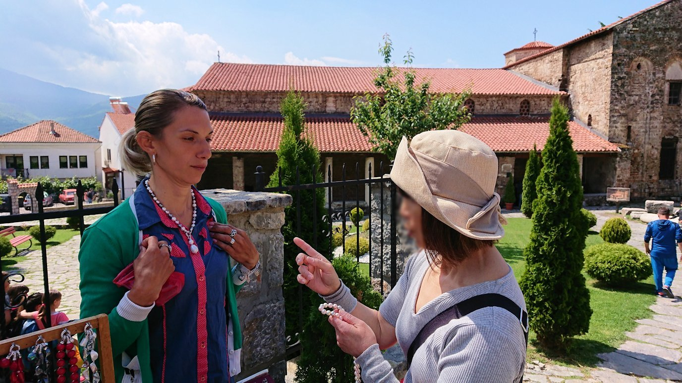 北マケドニアのオフリドで再び聖ソフィア教会を見学後に昼食まで時間を潰す8