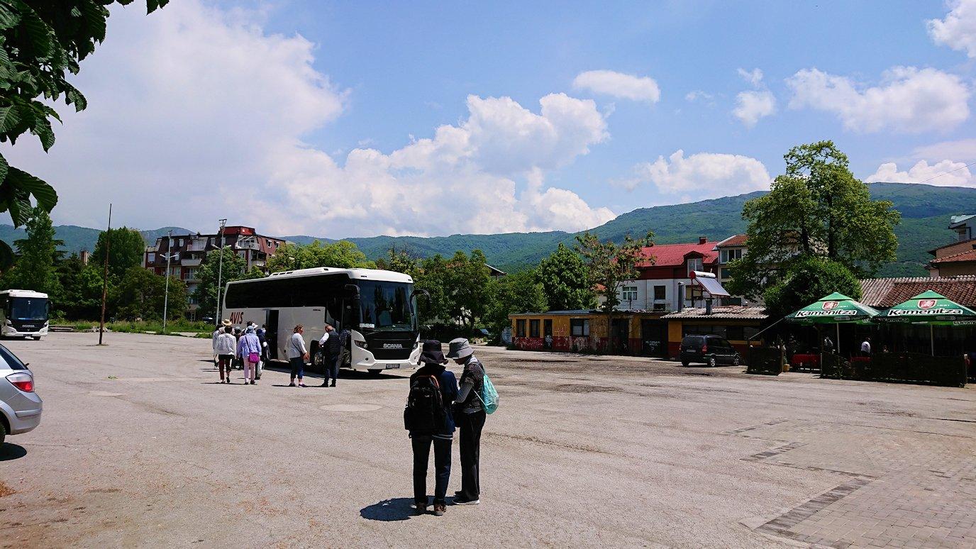 北マケドニアのオフリドでバスに乗る4