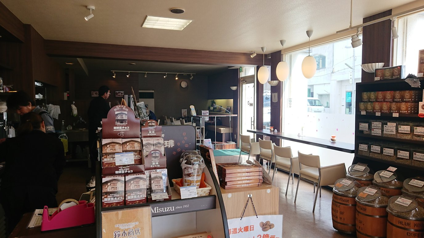 函館市内で路面電車に乗って函館に向かい美鈴珈琲でコーヒーを購入7