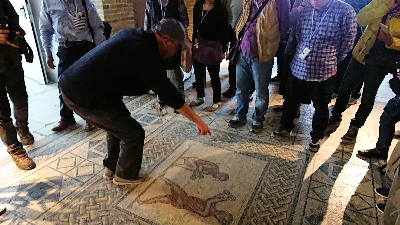 チュニス国際空港を出てバルドー博物館に到着し中に入る1