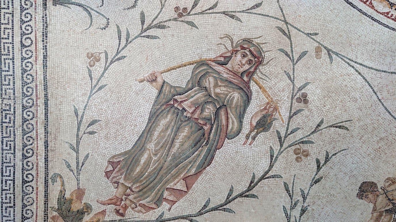 チュニスのバルドー博物館はモザイク作品で大きな作品を見学1