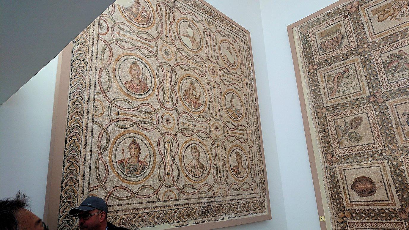 チュニスのバルドー博物館はモザイク作品で大きな作品を見学9