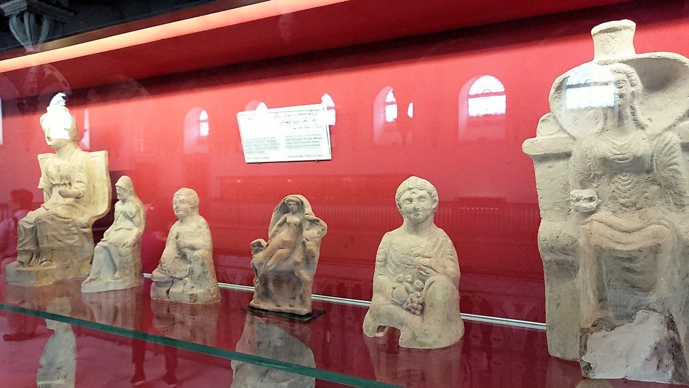 チュニスのバルドー博物館で2階も見所たっぷりで見学する様子7