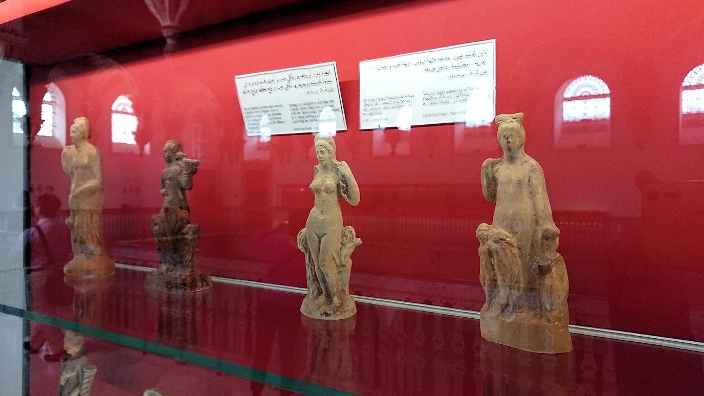 チュニスのバルドー博物館で2階も見所たっぷりで見学する様子8