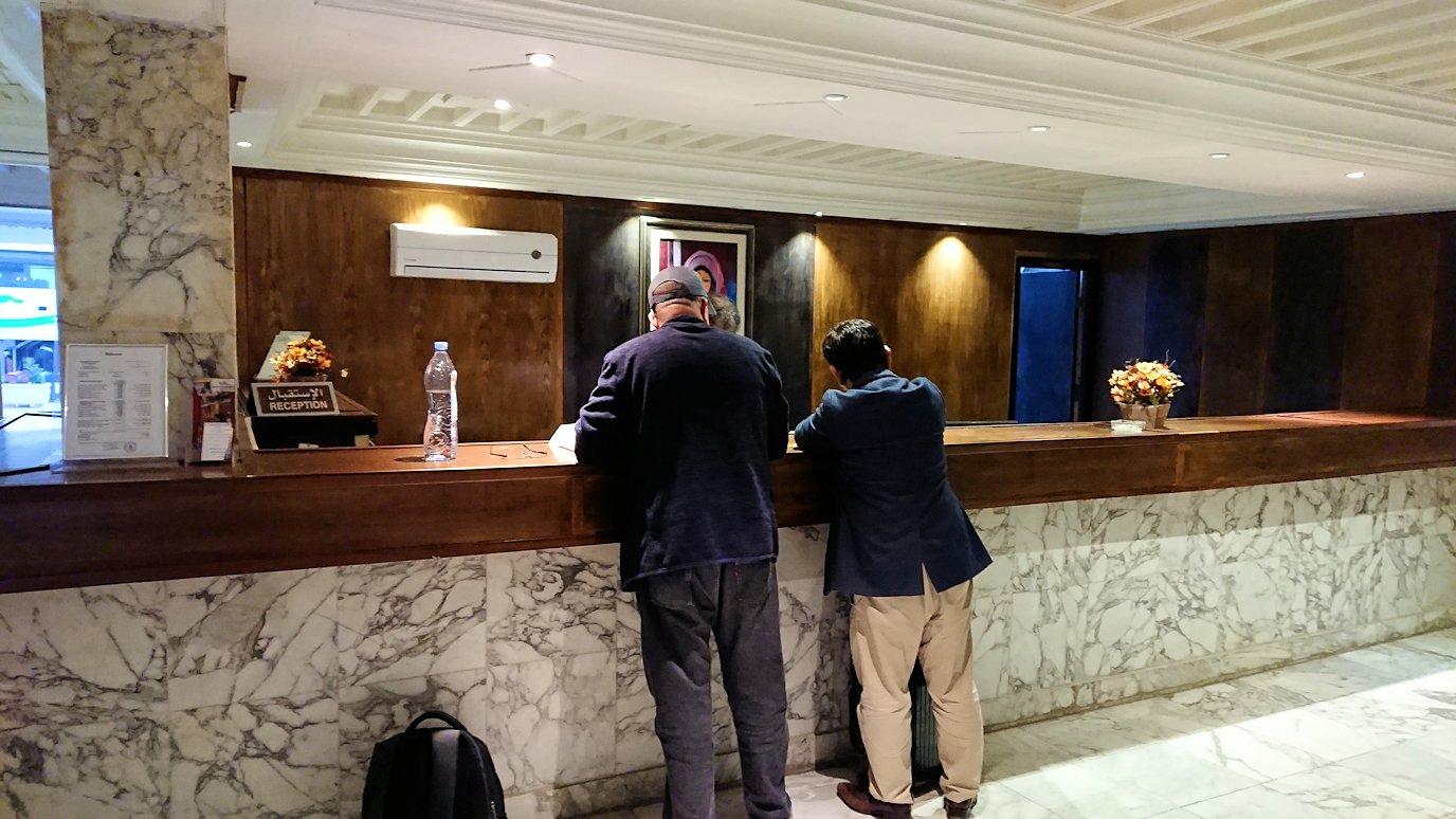 ケロアンのインターコンチネンタルホテルにチェックイン