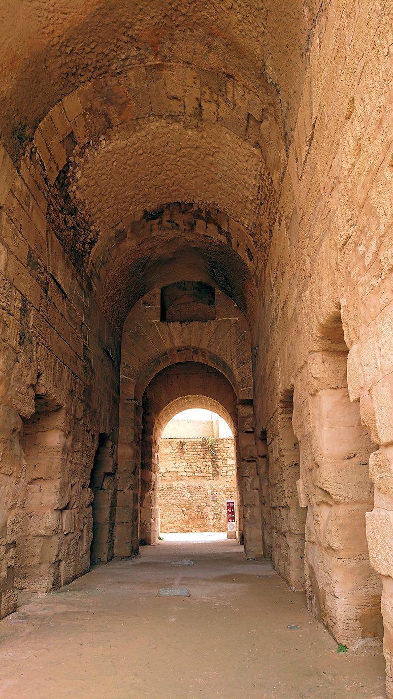 エルジェムの円形闘技場の正面玄関から入場し見えた内部の様子3