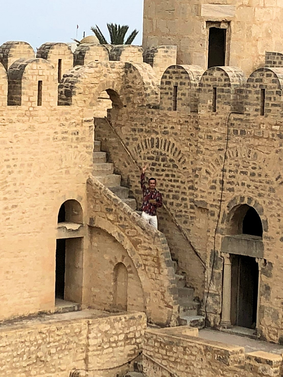 チュニジアのスースの街の旧市街で自由時間にリバトの様子6