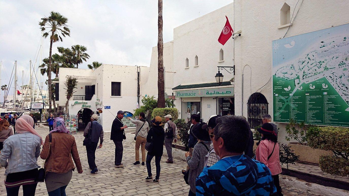 チュニジアのポートエルカンタウィのマリーナに進みます3
