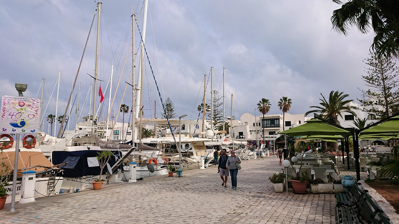 チュニジアのポートエルカンタウィのマリーナに進みます5