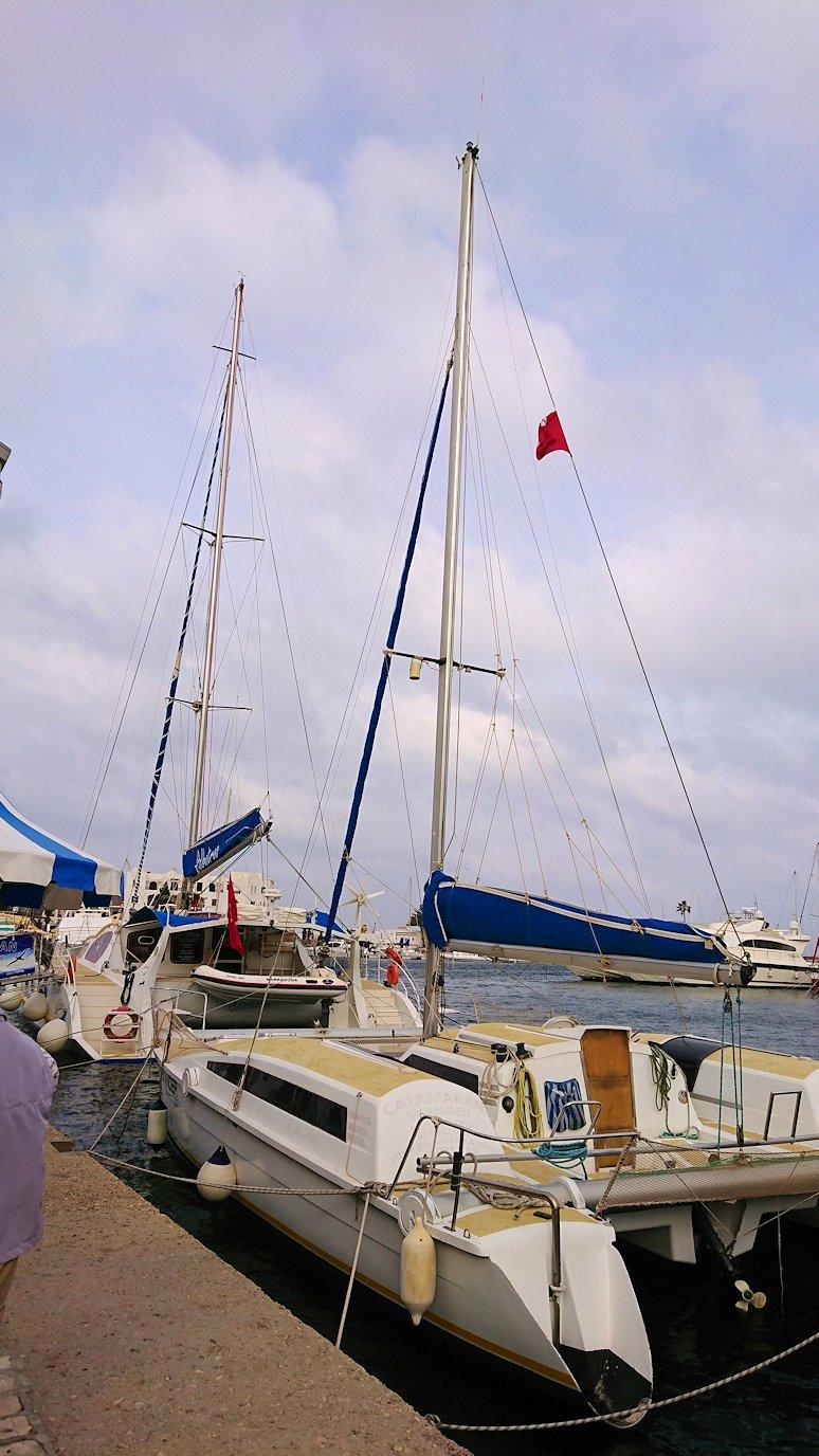 チュニジアのポートエルカンタウィのマリーナに進みます7