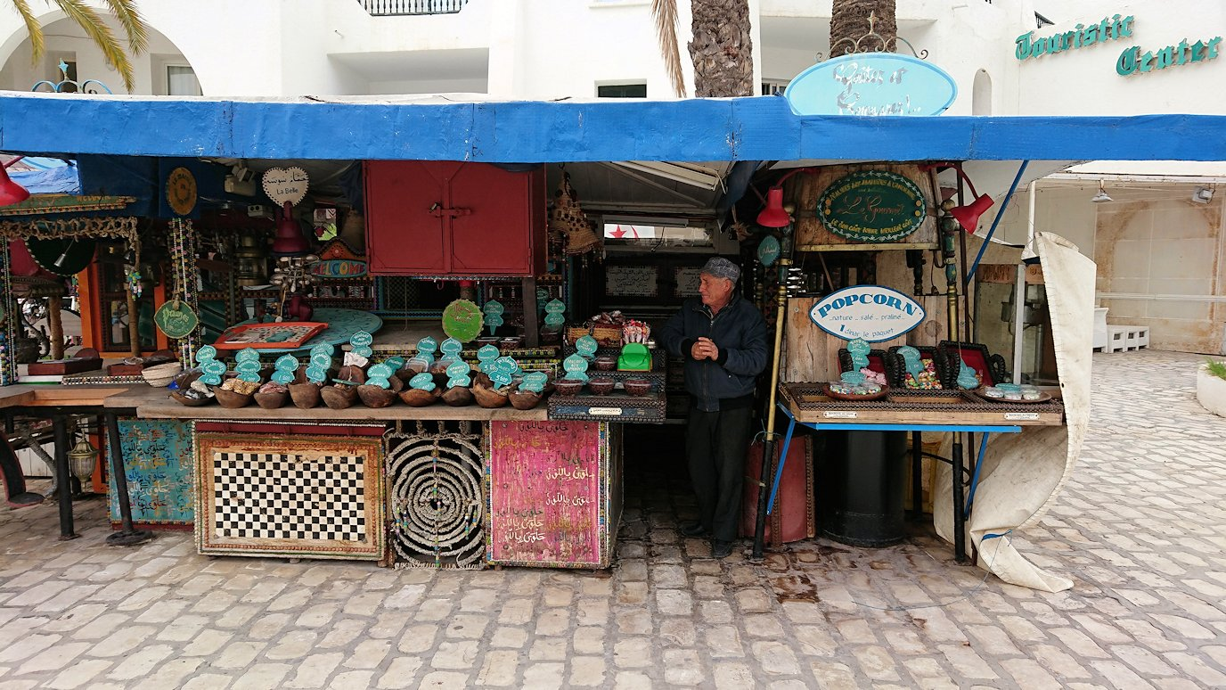 チュニジアのポートエルカンタウィのマリーナに進みます8