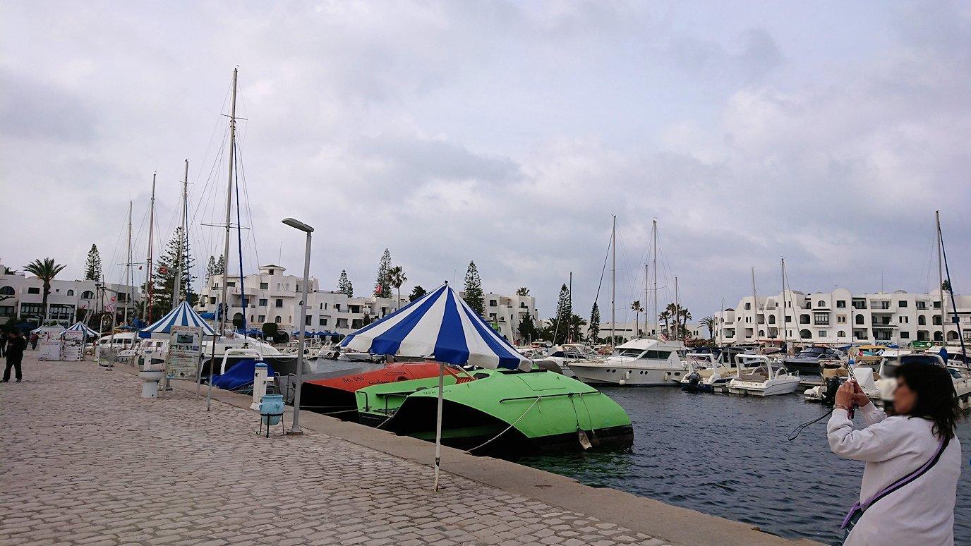 チュニジアのポートエルカンタウィのマリーナ付近を散策1